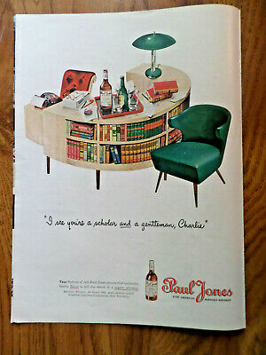 1945 Paul Jones Whiskey Ad I see You're a Scholar & Gentleman Charlie