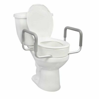 Essential Supply TOILET SEAT RISER With Removable Arms Standard Bowl - Brand New