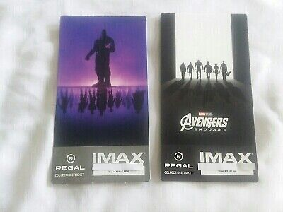 Avengers Endgame Collectible Week 1 & 2 Regal IMAX Ticket Thor Hulk Captain
