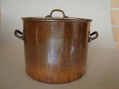 Vintage Small Copper stockpot and matching lid