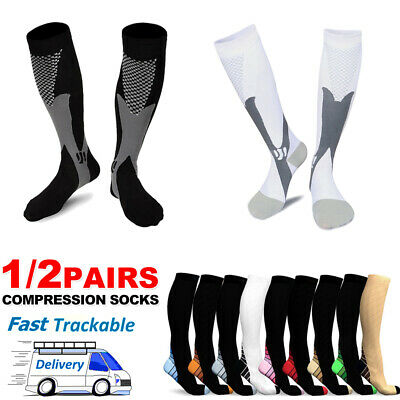 Medical Compression Socks 15-30mmHg Support Travel Flight Stockings Men & Women