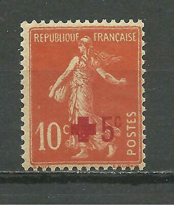 FRANCE 1914, Red Cross, overcharge, mint-never-hinged (MNH)