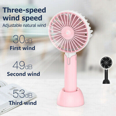 NEW Mini Portable Hand held Desk Fan Cooler USB Rechargeable Outdoor Home 2019