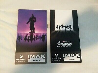 Avengers Endgame Collectible Week 1 & 2 Regal IMAX Ticket  #475 of 1000 Same #'s
