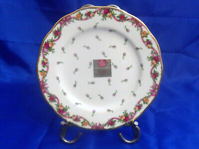 """Royal Albert Old Country Roses Ruby Celebration 2002 Dessert Pie Plate 8-1/4"""""""