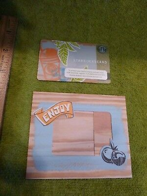 New STARBUCKS FARP gift card with MATCHING SLEEVE FOR 2006 SUMMER