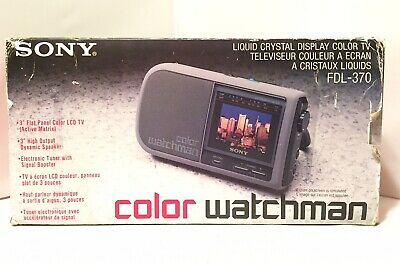 SONY Color Watchman FDL-370 Portable TV LCD Used
