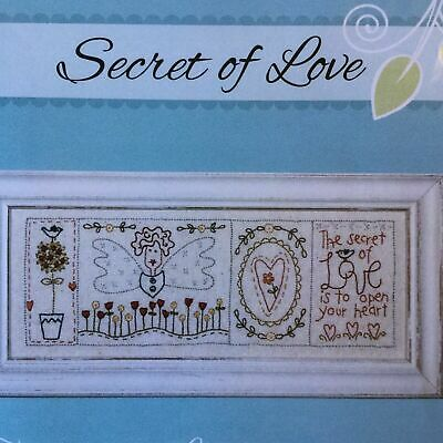 Secret of Love embroidery stitchery PATTERN Birdhouse Designs handmade gift