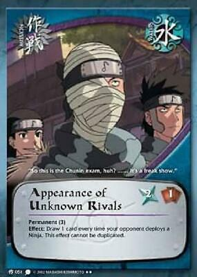 2x Appearance of Unknown Rivals - M-051 - Rare Unl NM