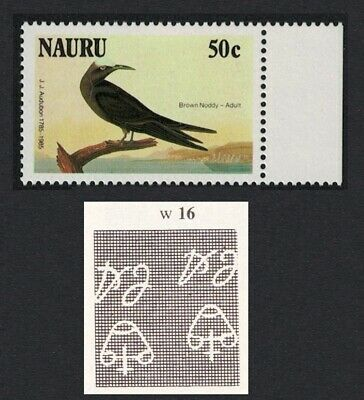 Nauru Birds Audubon 1v 50 c Inverted Watermark RARR MNH SG#331w