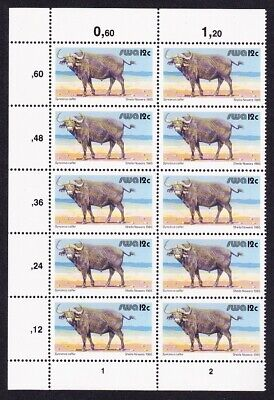 SWA Buffalo Block of 10v with control numbers MNH SG#358b SC#456Bc