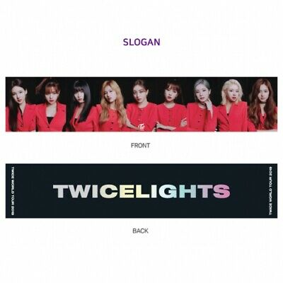 "TWICE WORLD TOUR 2019 "" TWICE LIGHTS "" Official Goods Photo Slogan New"