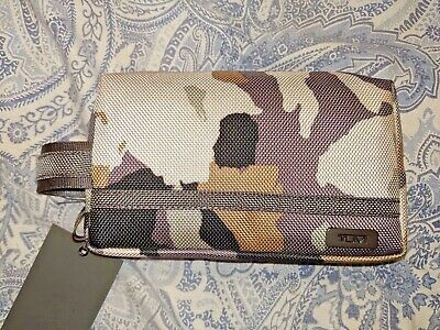 New With Tags   TUMI Cord Pouch Camouflage Rectangular Shape.