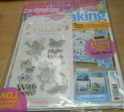 Cardmaking & Papercraft magazine #196 2019 + Dovecraft Fairytales Stamps, Topper