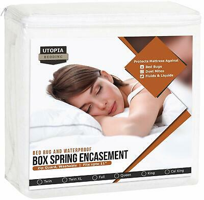 Utopia Bedding Waterproof Zippered Box Spring Cover