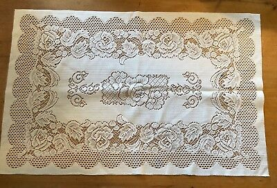 "BRAND NEW LARGE RECTANGULAR WHITE 24"" x 15.5"" 100% POLY TRADITIONAL PLACEMAT"