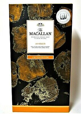 1 x The MACALLAN AMBER 2017, OAK CASKS, 70cl, 40% vol,+ Gift 2 Glasses Ltd. Edit