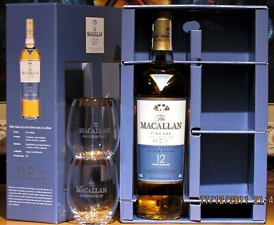1 x The MACALLAN AMBER 2013, OAK CASKS, 70cl, 40% vol,+ Gift 2 Glasses Ltd. Edit