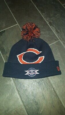 03ca624e9 New Era Chicago Bears Knit Hat On Field Cap Pom Beanie Winter Toque SUPER  BOWL
