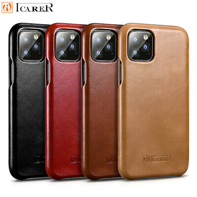 ICARER 100% Genuine Real Leather Wallet Flip Cover Case For iPhone XS MAX XR 7 8