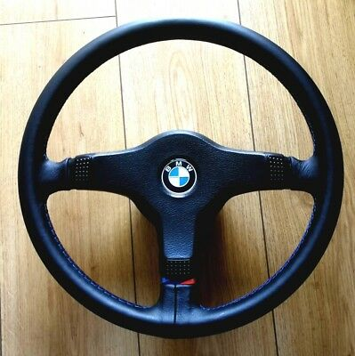 BMW E30 M TECH 1 STEERING WHEEL M SPORT TECH 1 upholstery Recover SERVICE ONLY