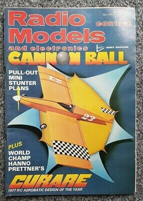 Radio Control Models And Electronics Magazine December 1977 With Free Plan