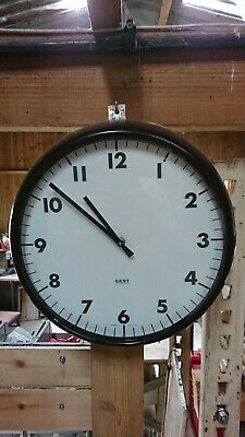 Gents of Leicester Industrial Railway Station Platform Factory 12 inch Clock