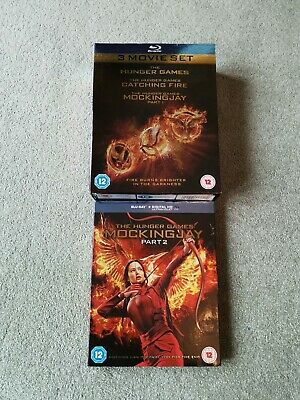 The Hunger Games Complete 4 Film Collection-Blu-ray-Jennifer Lawrence free Post