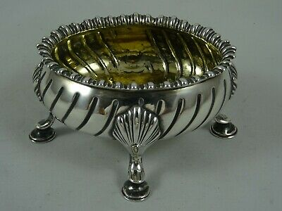 LARGE GEORGE III solid silver SALT, 1772, 90gm  - HENNELL