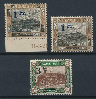 [53064] Saar 1921 lot 3 good MH Very Fine stamps