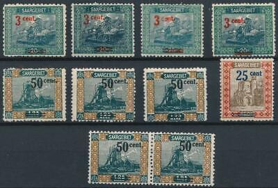 [53066] Saar 1921 good lot MH Very Fine stamps