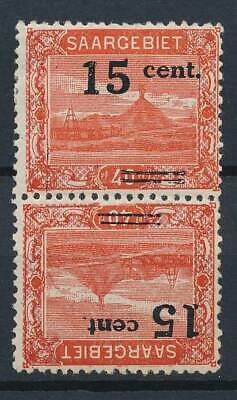 [53068] Saar 1921 good Tête-Bèche pair MH Very Fine stamps