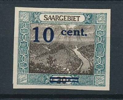 [53071] Saar 1921 good Imperf MH Very Fine Signed stamp