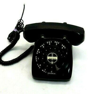 Vintage 1950'S Automatic Electric Dial Telephone In Black