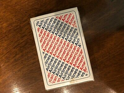 American Airlines Playing Cards 1970's open box