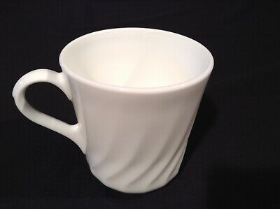 Corelle White Swirl Coffee Cup (Microwaveable)