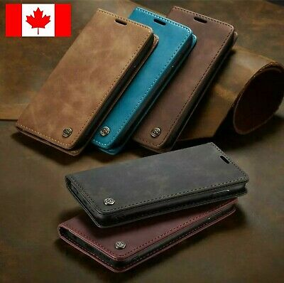 Samsung Galaxy S9 / Plus Genunine Retro Leather Magnet Wallet Stand Flip Cover