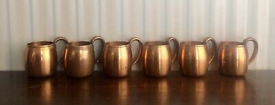 Vintage Solid Copper West Bend Aluminum Co. Moscow Mule Cups Set of (6)