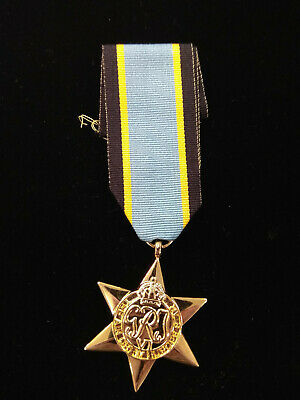 Ww2 Air Crew Europe Star Medal Full Size Replica With Ribbon