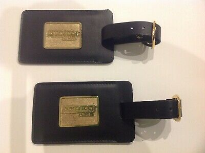 Ford Power Stroke Diesel Leather Gold Color Metal Emblem Luggage Tags, 2 pk