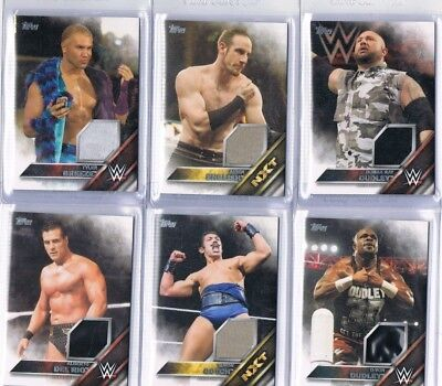 65 card Topps WWE relic card lot