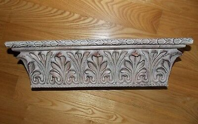 Acanthus Leaf Wall Shelf Ornate Rectangle Resin Architectural Decor 17x5
