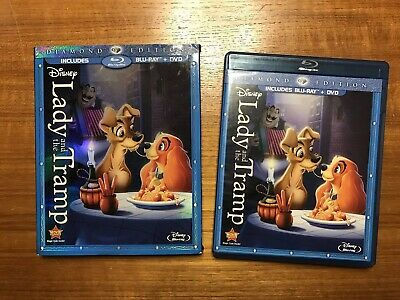 Lady and the Tramp Diamond Edition (Blu-ray/DVD) 2 Disc Set Slipcover Disney