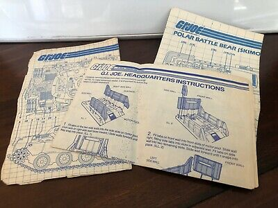 Gi Joe ARAH: Blue Prints: lot of 3- Polar Battle Bear, Headquarters, MOBOT