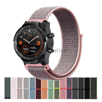New Woven Nylon Sport Loop Wrist Watch Band Strap For TicWatch Pro S2 E2 E C2