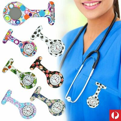 AU Stock Silicone Nurse Watch Brooch Tunic Fob Nursing Nurses Pendant Doctors