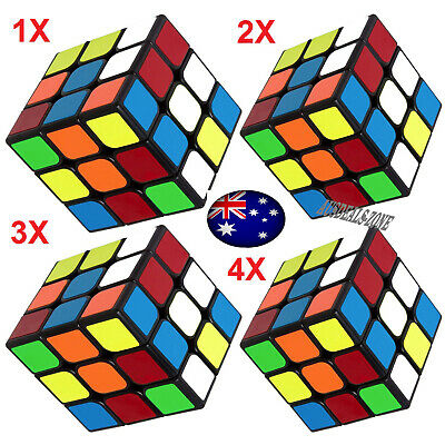 Melbourne Stock Magic Cube 3x3x3 Super Smooth Fast Speed Rubix Rubiks Puzzle New