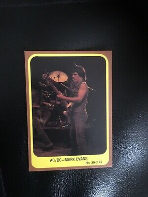 1977 Scanlens AC/DC Popswops #30 Mint Condition