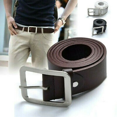 Men's Leather Dress Belt Casual Pin Waist Strap Belts Waistband Accessories Gift
