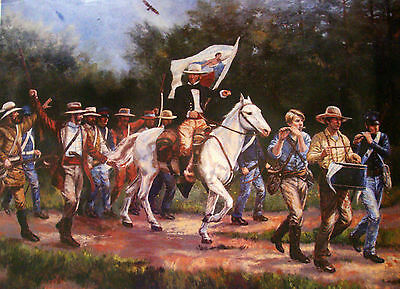 Footsteps of Heroes Print, Nenad Mirkovich, Sam Houston Battle of San Jacinto